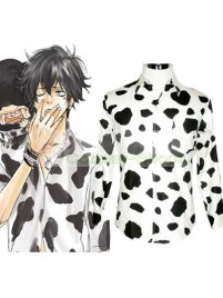 Katekyo Hitman Reborn Lambo Cosplay Costume White and Black