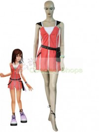 Kingdom Hearts II 2 Kairi Pink Dress Cosplay Costume