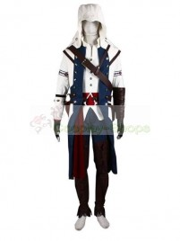 Assassins Creed III: Liberation AC 3 Connor Kenway Cosplay Costume