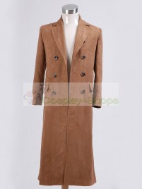 Doctor Who The 10th Doctor / Tenth Doctor Dr. David Tennant's Light Brown Trench Coat  Cosplay Costume