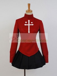 Fate/Stay Night Rin Tohsaka Casual Cosplay Costume