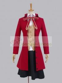 Fate / Stay Night Homurahara uniform Rin Tohsaka Red Jacket Cosplay Costume