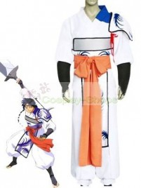 InuYasha Bankotsu Cosplay Costume (White and Orange)