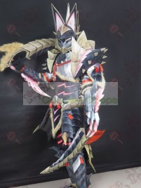 Monster Hunter MH3U Stygian Zinogre Jinouga Armor Blademaster Cosplay