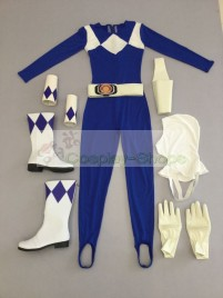 Power Rangers Mighty Morphin Blue Ranger Dan Tricera Ranger Cosplay Costume