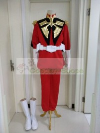 Mobile Suit Gundam 0079 Char Aznable Cosplay Costume