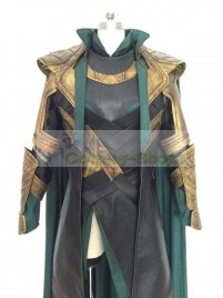 The Avengers Loki battle outfit Cosplay Costume