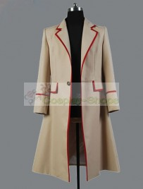 Doctor Who The 5th Doctor / Fifth Doctor Dr. Coat Cosplay Costume