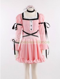 Uryu Minene Pink Lolita Dress Cosplay Costume from Future Diary