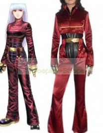 The King of Fighters(KOF) Kula Diamond Red Cosplay Costume