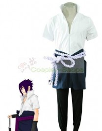 Naruto Shippuden - Uchiha Sasuke 4th Short Sleeve Cosplay Costume