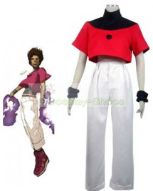 The King of Fighters(KOF) Chris Red and White Cosplay Costume