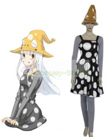 Soul Eater Eruka Frog Dress Black and Gray Cosplay Costume