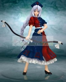 Touhou Project Phantasmagoria of Dim.Dream Yagokoro Eirin Blue and Red Cosplay Costume