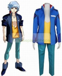 Mobile Suit Gundam SEED Destiny Earth Alliance Blue Male Uniform Cosplay Costume