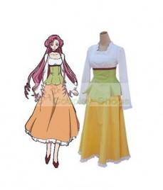 Code Geass Euphemia Li Britannia Cosplay Costume White and Yellow