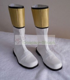 Mighty Morphin Power Rangers White Ranger Shoes Boots Cosplay
