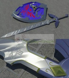 The Legend of Zelda Ocarina of time Link Master Sword Cosplay Prop