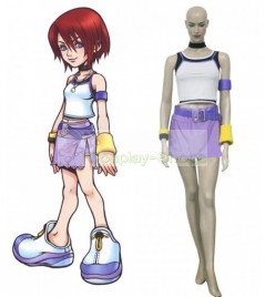 Kingdom Hearts 1 Kairi White and Purple Cosplay Costume