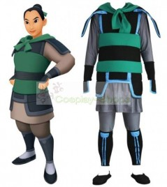 Kingdom Hearts II 2 Mulan Cosplay Costume