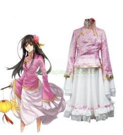 Axis Power Hetalia Taiwan Pink and White Cosplay Costume