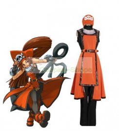 Guilty Gear Jellyfish Pirate May Cosplay Costume Orange