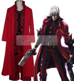 Devil May Cry DMC Dante Cosplay Costume Red and Black