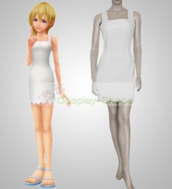 Kingdom Hearts II 2 Namine White Dress Cosplay Costume