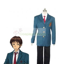 The Melancholy of Suzumiya Haruhi Kyon North High School Light Blue Cosplay Costume
