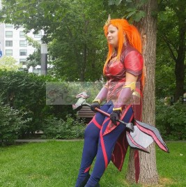 Elementalist Lux Magma Form from League of Legends LOL Cosplay Costume