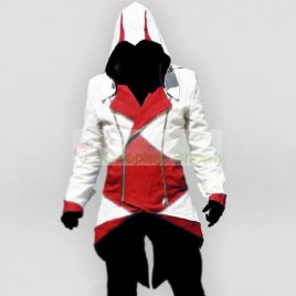 Conner Kenway White & Red Jacket Hoodie from Assassin's Creed 3 AC