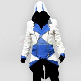 Conner Kenway White & Blue Jacket Hoodie from Assassin's Creed 3 AC