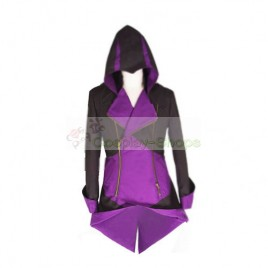 Conner Kenway Black & Purple Jacket Hoodie from Assassin's Creed AC