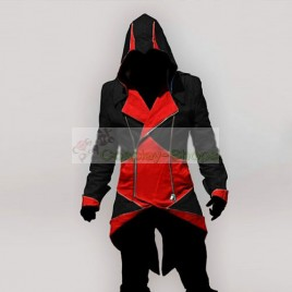 Conner Kenway Black & Red Jacket Hoodie from Assassin's Creed AC