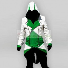 Conner Kenway White & Green Jacket Hoodie from Assassin's Creed AC