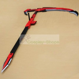 RWBY Ruby Crescent Rose Red Scythe Cosplay Prop