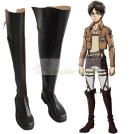 Shingeki No Kyojin / Attack on Titan Eren Jaeger Boots Cosplay Shoes
