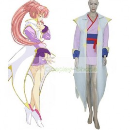 Mobile Suit Gundam SEED Destiny Lacus Clyne White and Purple Fighting Cosplay Costume