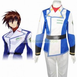Gundam Seed Kira Yamato White and Blue Cosplay Costume