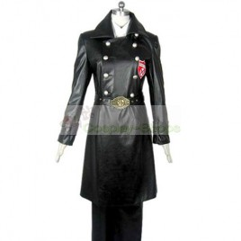 Katekyo Hitman Reborn Superbia Squalo Varia Uniform Cosplay Costume Black