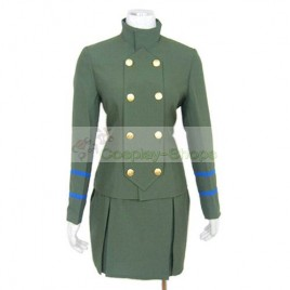 Katekyo Hitman Reborn Female School Uniform Cosplay Costume Army Green
