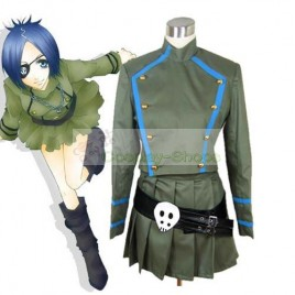 Katekyo Hitman Reborn Vongola Chrome Dokuro Cosplay Costume Army Green