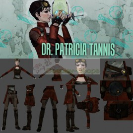 Borderlands Dr. Patricia Tannis Full Outfit Cosplay Costume