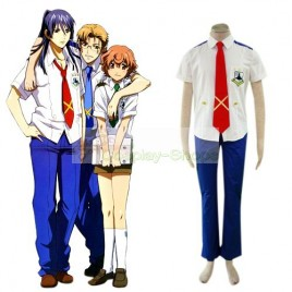 Macross Frontier Mihoshi Boys Academy / School Uniform Cosplay Costume