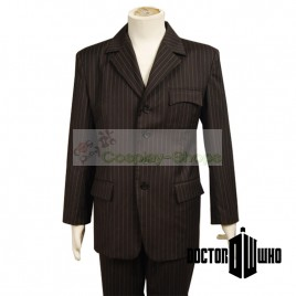 Doctor Who The 10th Doctor / Tenth Doctor Dr. Brown Pinstripe Suit Cosplay Costume