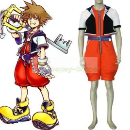 Kingdom Hearts I 1 Sora Cosplay Costume