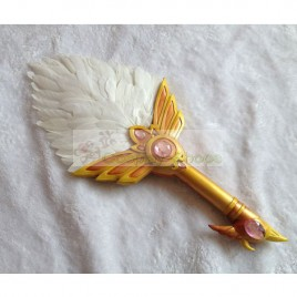Magi: The Labyrinth of Magic Ren Hakuei White Feathers Fans Cosplay Prop
