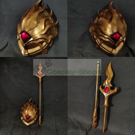 League of Legends LOL Myrmidon Pantheon shield with spear Cosplay Prop