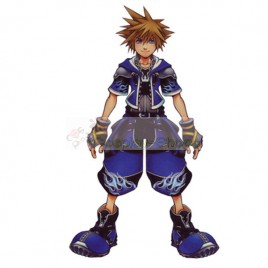 Kingdom Hearts II 2 Sora Wisdom Form Cosplay Costume