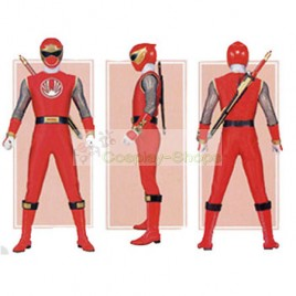 Power Rangers Ninja Storm RED WIND Ranger Cosplay Costumes